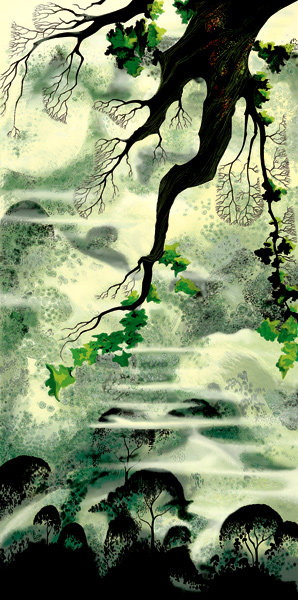 Eyvind Earle - Fog Bound - Limited Edition Serigraph print