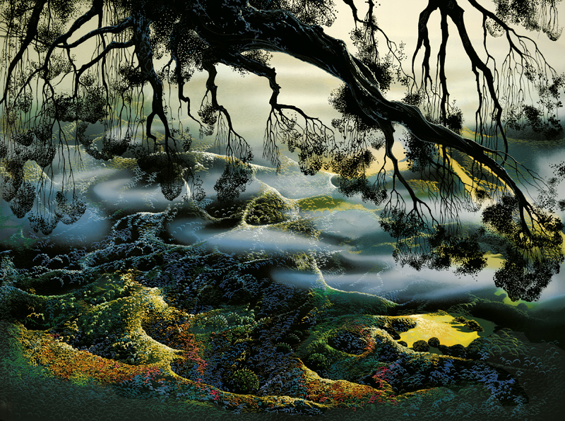 Eyvind Earle - Fog Passes By - Limited Edition Serigraph print