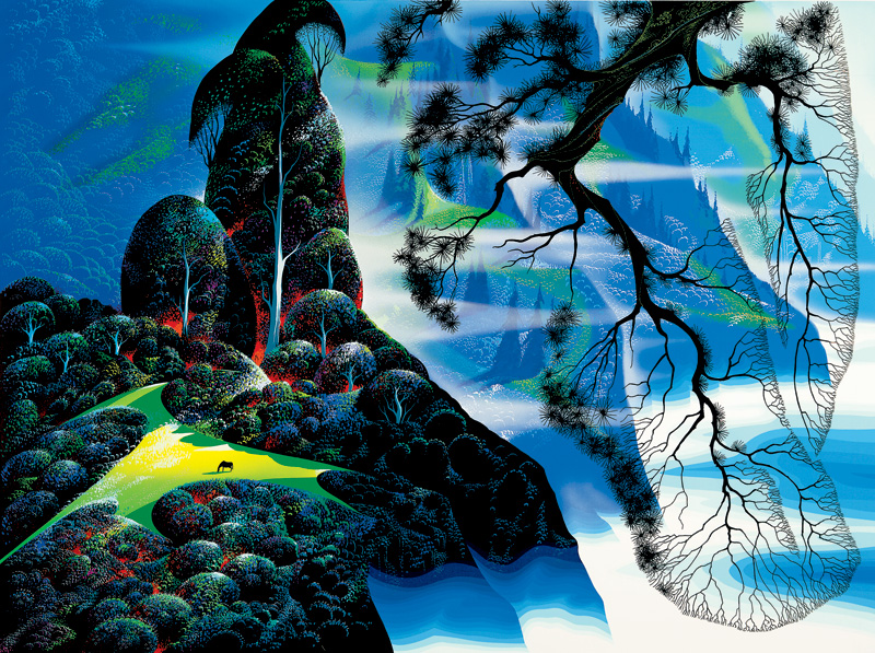 Eyvind Earle - God's Country - Limited Edition Serigraph print