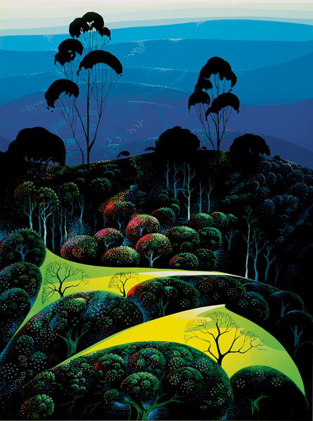 Eyvind Earle - Inland from the Sea - Limited Edition Serigraph print