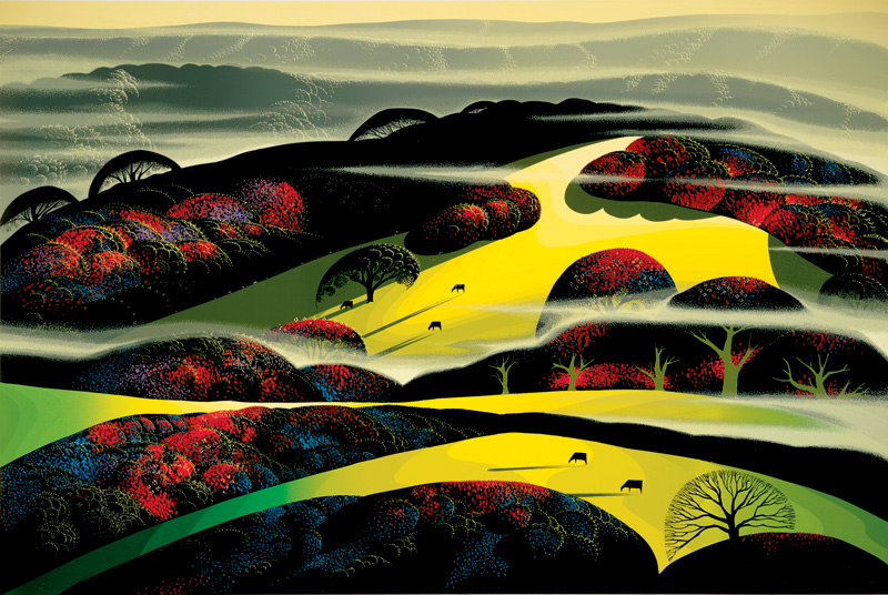 Eyvind Earle - Lome Amarillo - Limited Edition Serigraph print