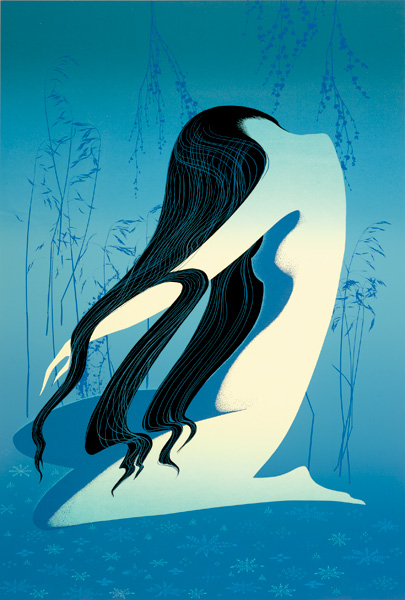 Eyvind Earle - Moonbath - Limited Edition Serigraph print