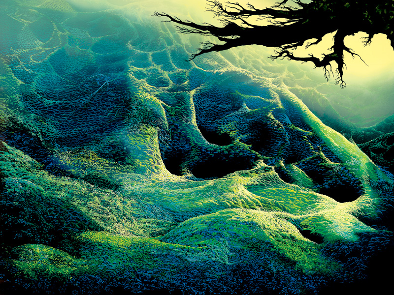 Eyvind Earle - My Soul - Limited Edition Serigraph print