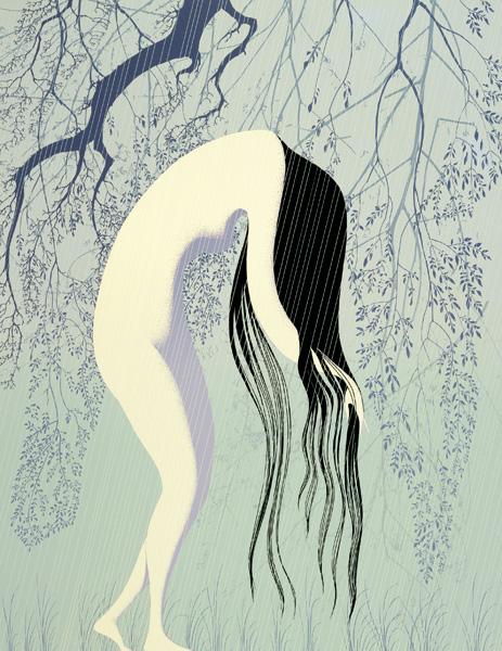 Eyvind Earle - Rain Shower - Limited Edition Serigraph print