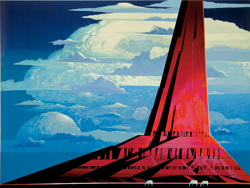 Eyvind Earle - Silent Thunder - Limited Edition Serigraph print