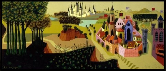 Eyvind Earle - Sleeping Beauty - Countryside - Limited Edition Serigraph print