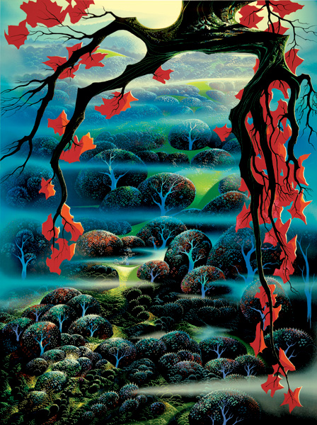 Eyvind Earle - Valley of Dreams - Limited Edition Serigraph print