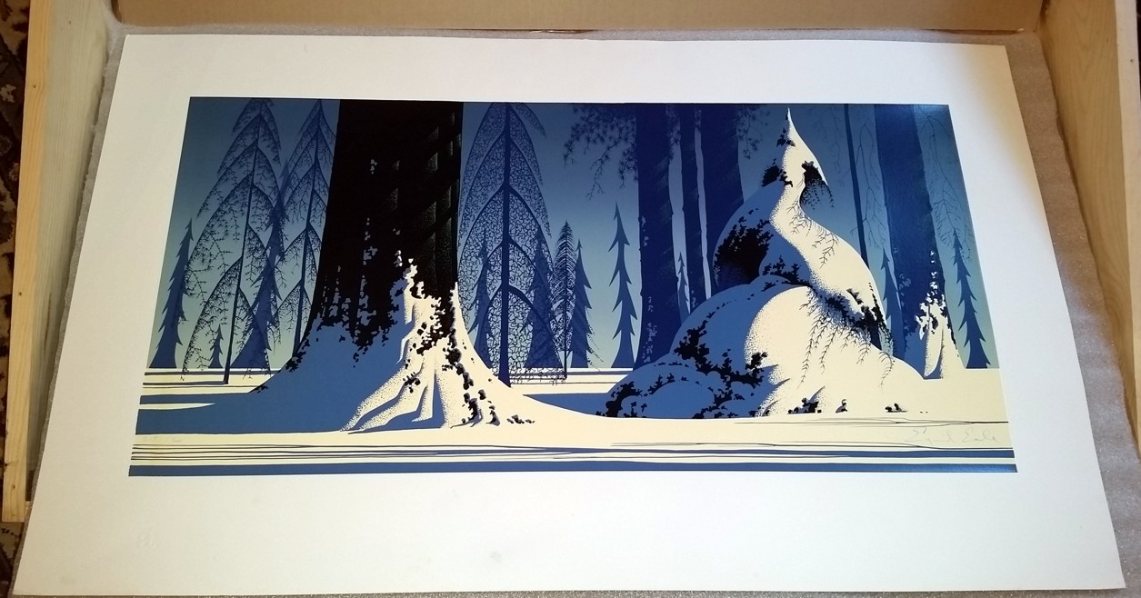 Eyvind Earle - Winter - Limited Edition Serigraph print