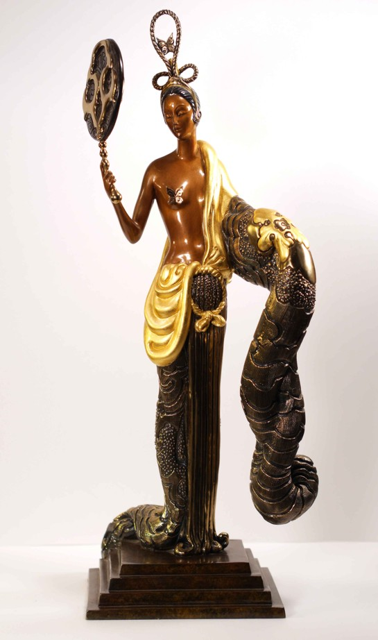 Erte - Bamboo - Bronze Sculpture - Signed & Numbered