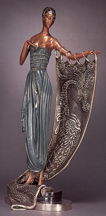 Erte' - Emerald Night Bronze Sculpture - Signed & Numbered