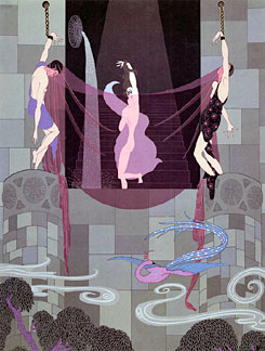 Erte' - The Chaste Sussana - limited edition serigraph