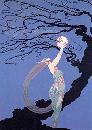 Erte' - Fireflies - limited edition serigraph