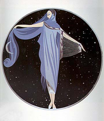 Erte' - Moonlight - limited edition serigraph