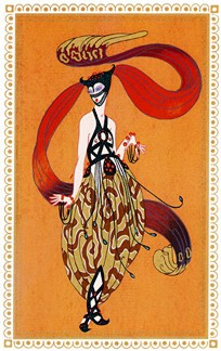 SCHEHEREZADE 7, BEAUTY OF BAGDAD - Fine Art by Erte