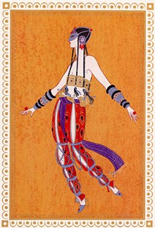 SCHEHEREZADE 9, ARABIAN DANCER - Fine Art by Erte