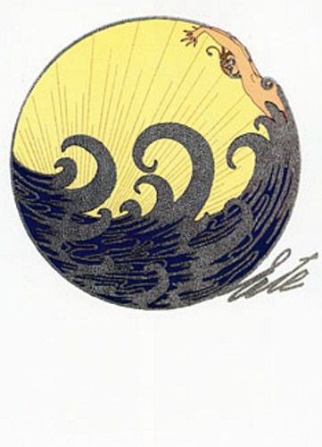 Erte - The Wave serigraph