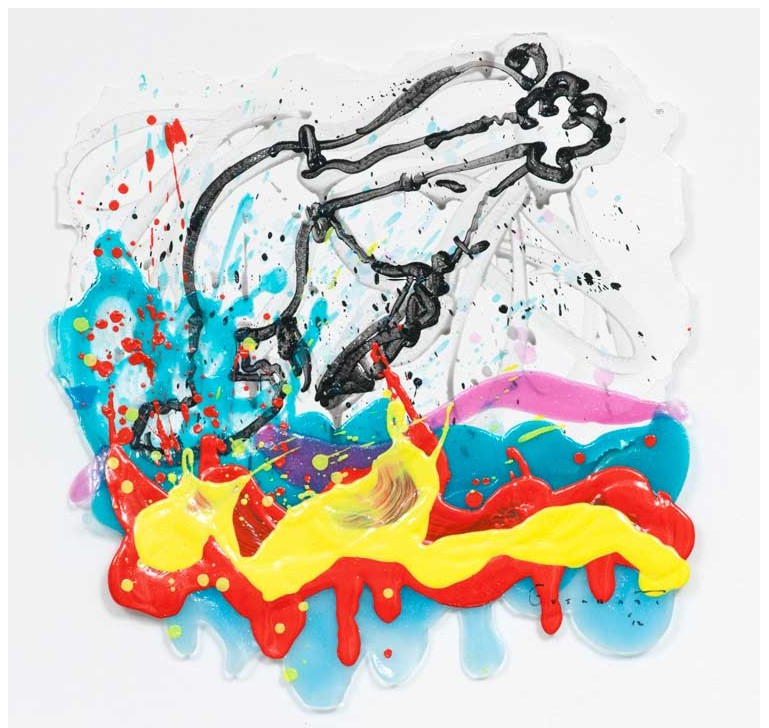 Tom Everhart - Flipped Out 85 - 22x21 - Original Painting
