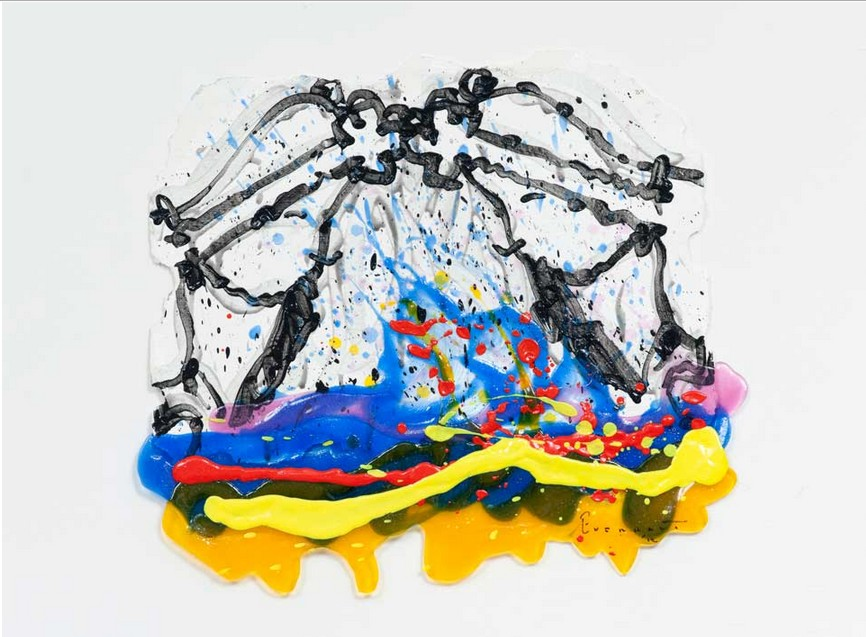 Tom Everhart - Flipped Out 89 - 21x23 - Original Painting