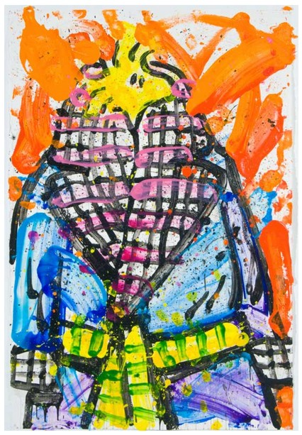 Tom Everhart - Wearing Jim Dine 8 - Original Painting