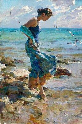 ALLURE  Embellished Giclee on Canvas 36 x 24 inches Edition Size: 50 by Michael and Inessa Garmash