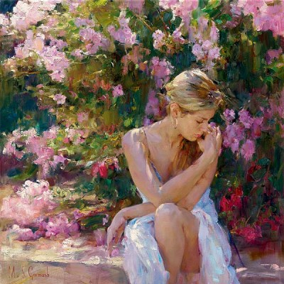 BLOOMING BEAUTY  Embellished Giclee on Canvas 20 x 20 inches Edition Size: 50 by Michael and Inessa Garmash