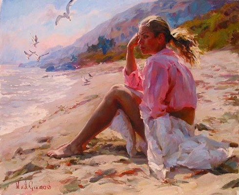 BY THE SHORE  Giclee 20 x 24 inches Edition Size: 95 by Michael and Inessa Garmash