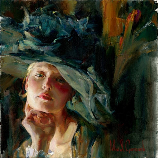 Captivating  Embellished Giclee on Canvas 20 x 20 inches Edition Size: 50 by Michael and Inessa Garmash