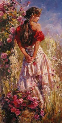 CHERISHED ROSES  Giclee 48 x 24 inches Edition Size: 295 by Michael and Inessa Garmash