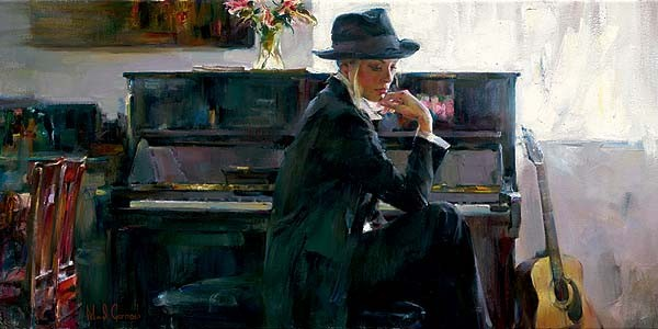 En Vogue  Embellished Giclee on Canvas by Michael and Inessa Garmash