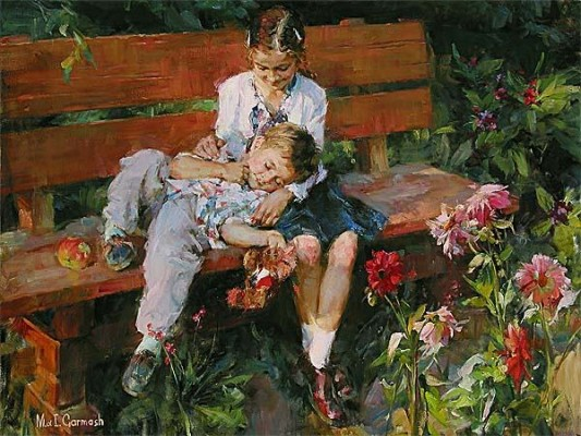GARDEN TREASURES  Giclee 30 x 40 inches Edition Size: 295 by Michael and Inessa Garmash
