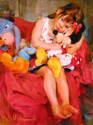 HUGS FOR MINNIE  Giclee 18 x 24 inches by Michael and Inessa Garmash