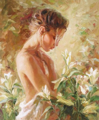 LOST IN LILIES  Giclee 24 x 20 inches Edition Size: 195 by Michael and Inessa Garmash