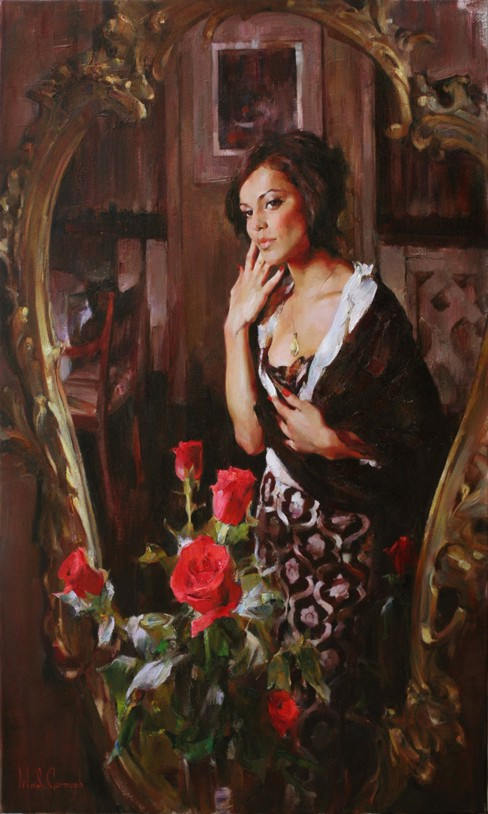 Mirror Mirror - original painting - by Michael and Inessa Garmash