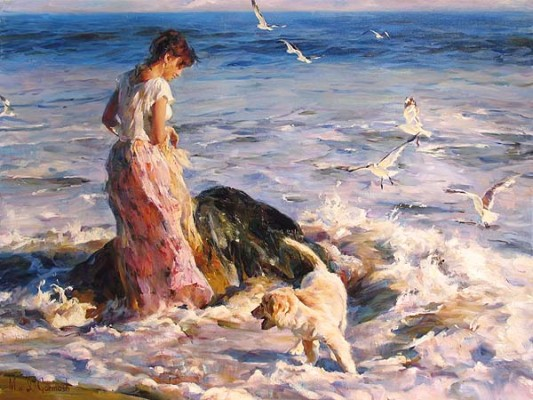 MOMENTS IN THE SUN  Giclee 36 x 48 inches Edition Size: 95 by Michael and Inessa Garmash