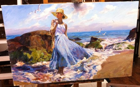 Michael and Inessa Garmash - New Ocean - Original Painting