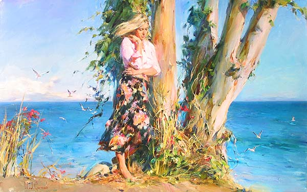 Michael and Inessa Garmash - OCEAN ALLURE - Original Painting