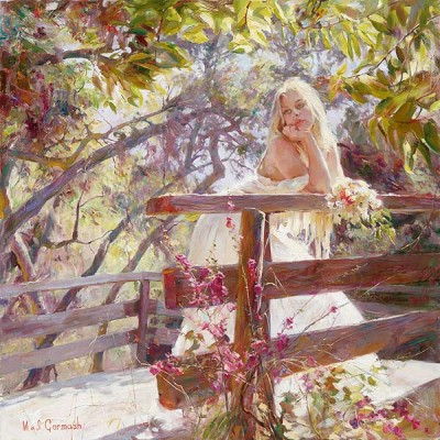 ON THE BRIDGE  Giclees 40 x 40 inches Edition Size: 30 by Michael and Inessa Garmash