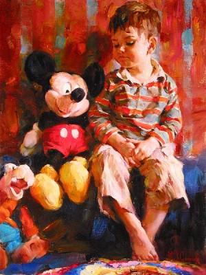 PLAYTIME PALS  Giclee 18 x 24 inches by Michael and Inessa Garmash
