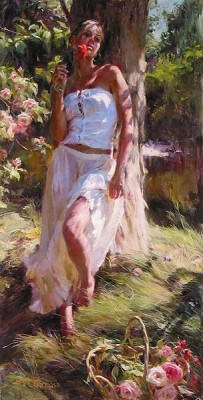 QUIET MOMENT  Giclee 36 x 18 inches Edition Size: 95 by Michael and Inessa Garmash