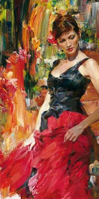 Radiance  Embellished Giclee on Canvas by Michael and Inessa Garmash