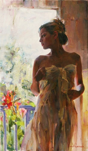Rare Beauty  Embellished Giclee on Canvas 20 x 20 inches Edition Size: 50 by Michael and Inessa Garmash