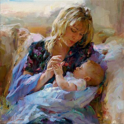 TENDER MOMENT  Giclee 18 x 18 inches Edition Size: 50 by Michael and Inessa Garmash