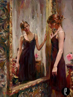 Timeless Beauty  Embellished Giclee on Canvas by Michael and Inessa Garmash