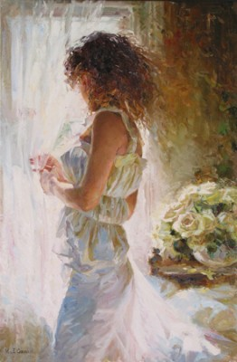 WAITING FOR LOVE  Giclee 27 x 18 inches Edition Size: 295 by Michael and Inessa Garmash
