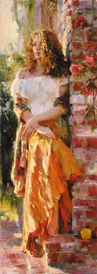 WAITING IN THE COURTYARD  Giclee 48 x 17 inches Edition Size: 95 by Michael and Inessa Garmash
