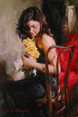 YELLOW ROSES  Giclee 24 x 16 inches Edition Size: 95 by Michael and Inessa Garmash