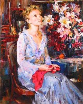 Michael and Inessa Garmash - Delicate Beauty - Original Painting
