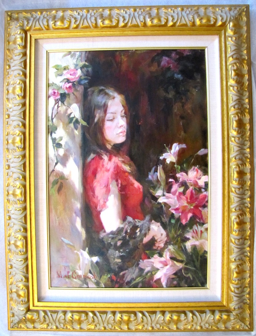 Aroma of Lilies - original painting - by Michael and Inessa Garmash