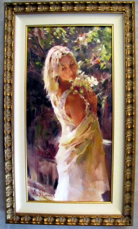 Garden Memories - original painting - by Michael and Inessa Garmash