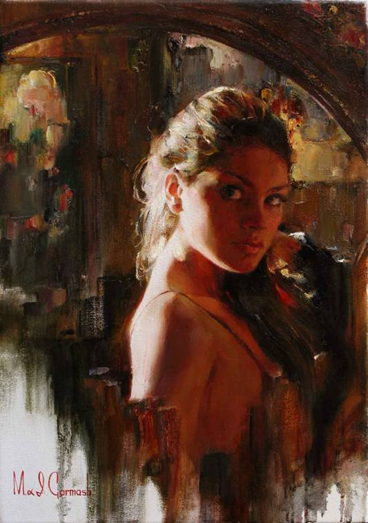 The Look - original painting - by Michael and Inessa Garmash